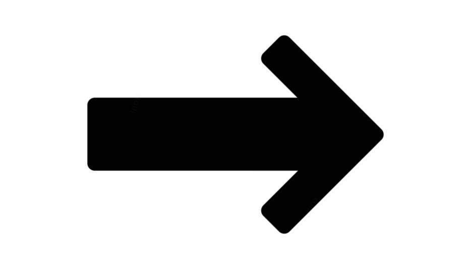 Arrow Pointing Right Png Black And White