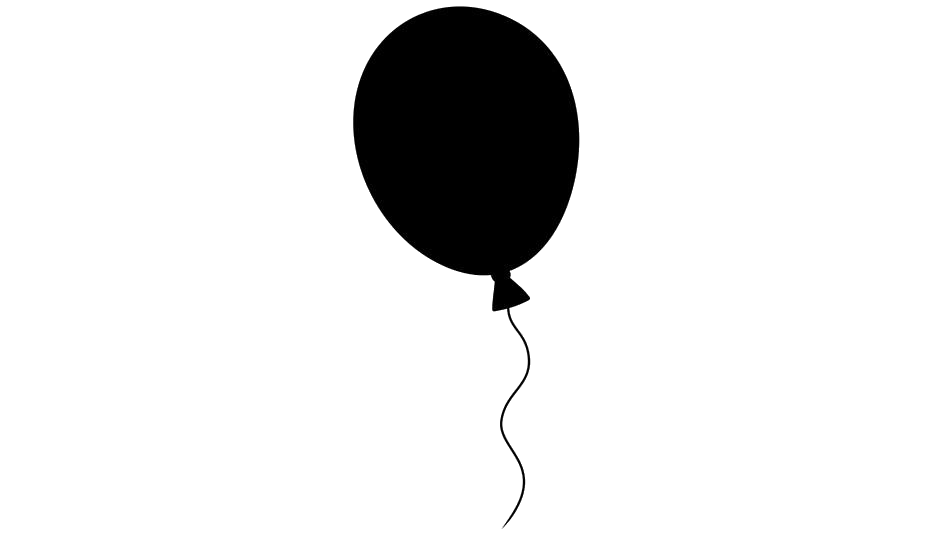 Balloon Silhouette Transparent Background