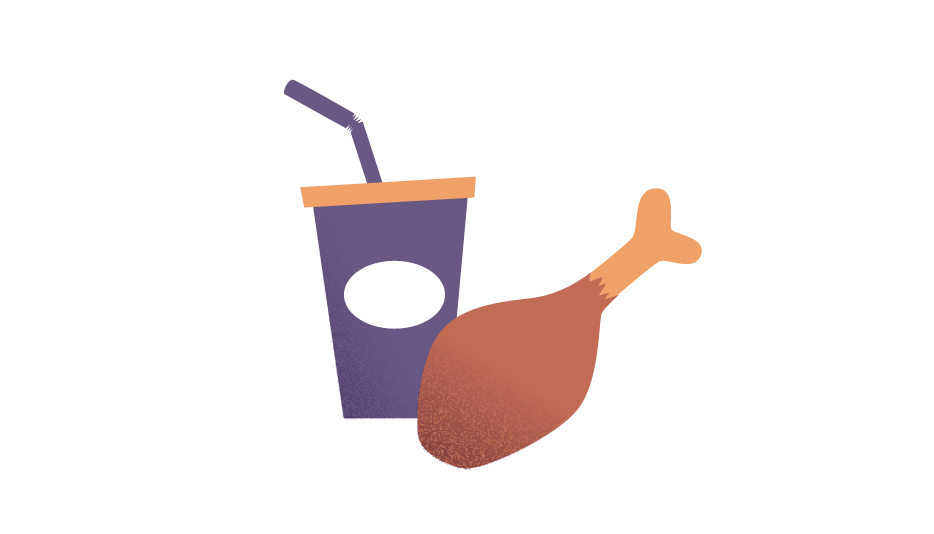 Chicken With Soft Drink Transparent PNG