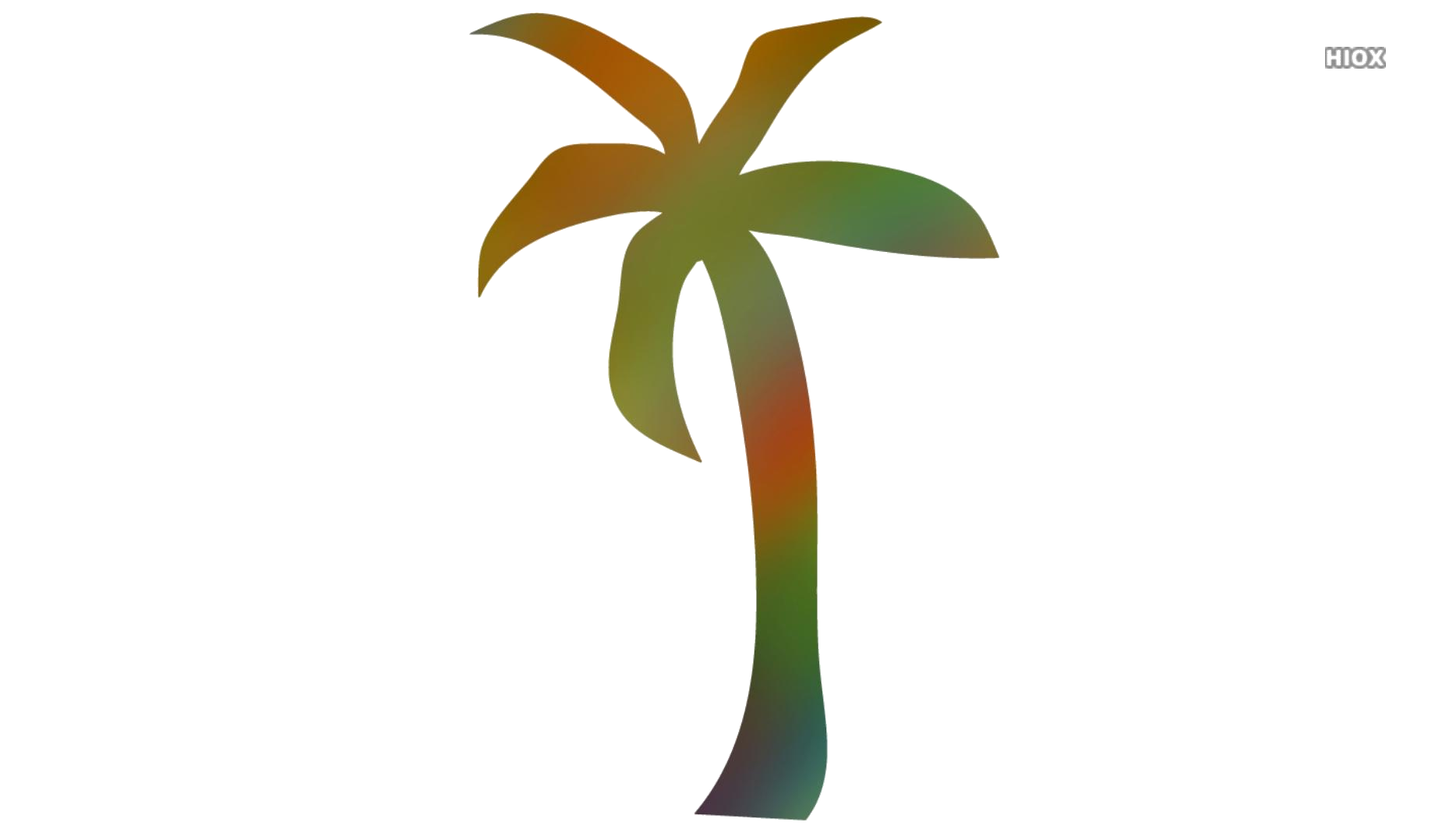 Coconut Tree Colorful Hd Png Download