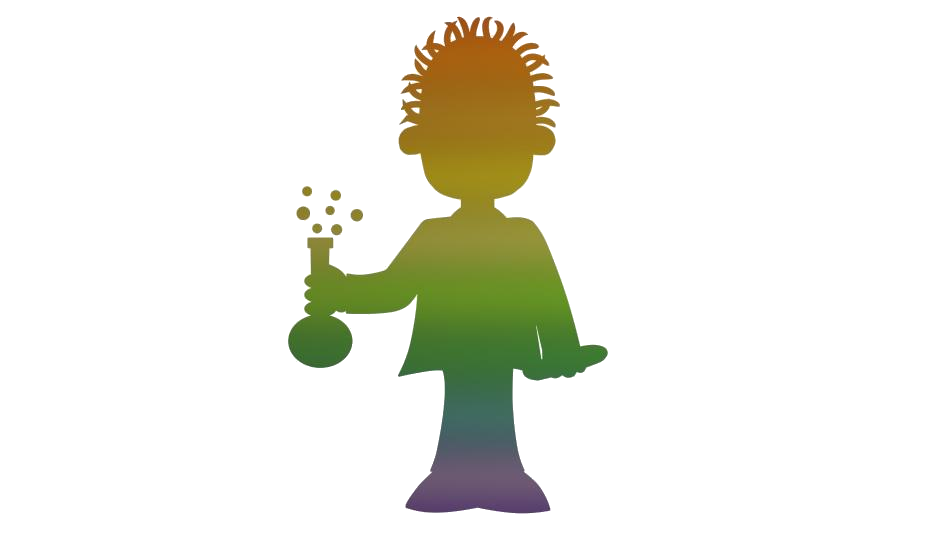 Colorful Spectrum Scientist Hd Png Download