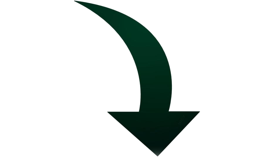Curved Down Arrow Png Free Clipart
