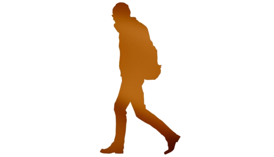 Cute Person Walking Transparent Background