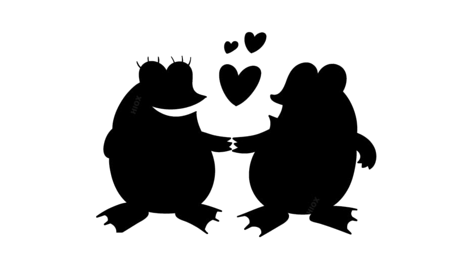 Frog In Love Cartoon PNG