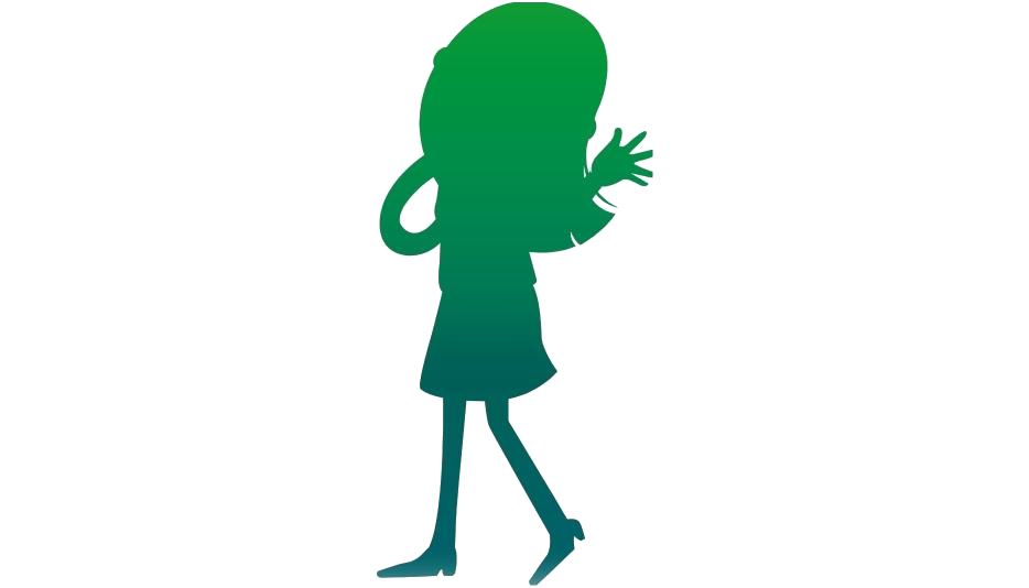 Girl Walking Silhouette Transparent Background