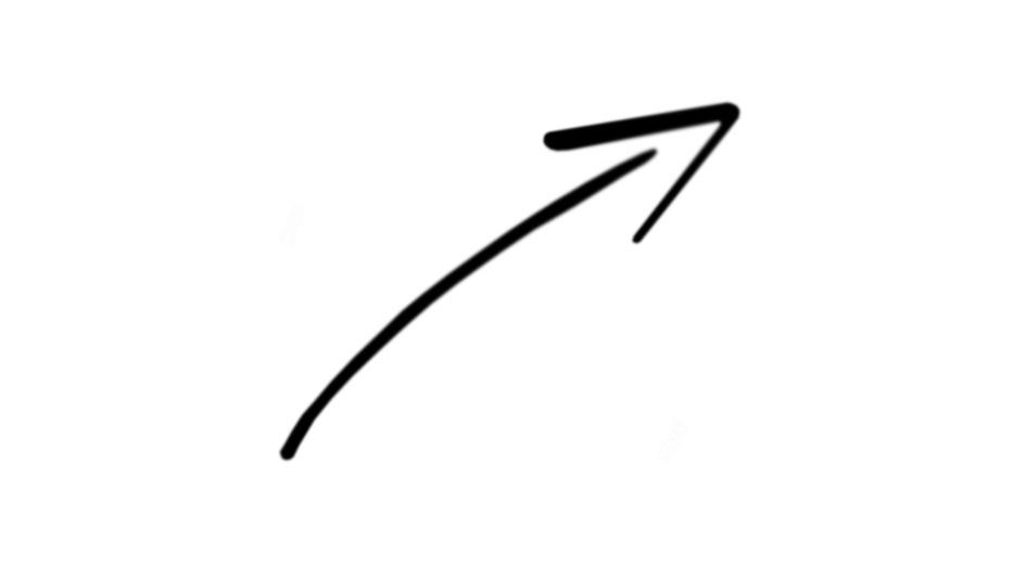 Hand Drawn Curved Arrow Png Hd Images Stickers Vectors