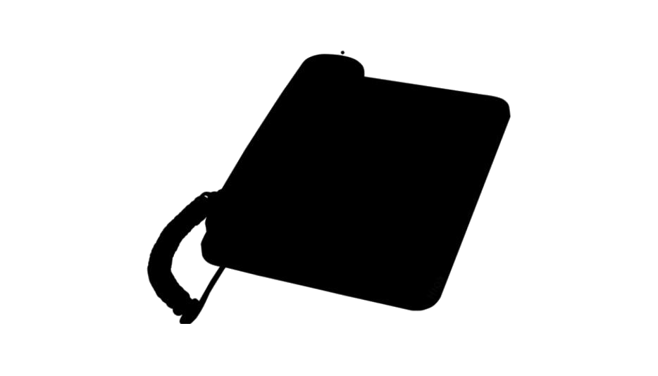 Office Telephone Silhouette PNG