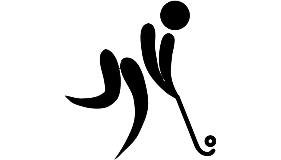 Olympic Sports Field Hockey Clipart Png Black And White