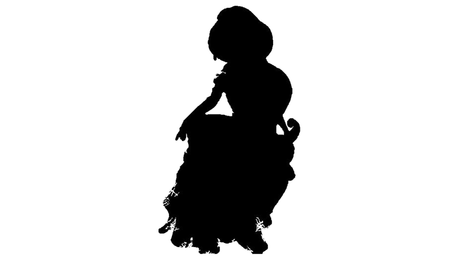 Princess Jasmine Clipart Png Black And White