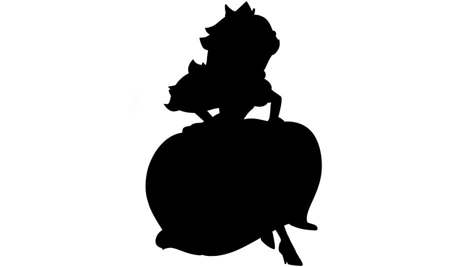 Princess Peach Clipart Png Black And White