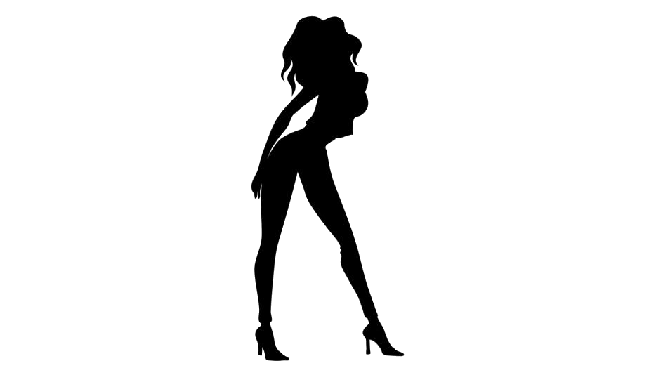 Sexy Girl Dance Movement Png Drawing Image