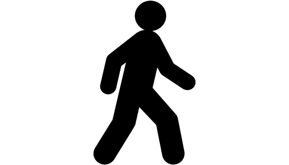 Stick Man Walking Png Black And White