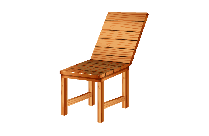 Wooden Chair Vector Clipart Image