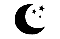 Beautiful Moon Stars Png Black And White