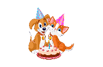 Birthday Pets Clipart PNG Image
