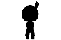 Little Girl Art Png With Transparent Background