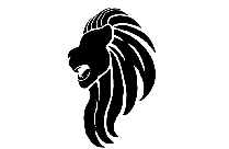 Lion Head Png Black And White