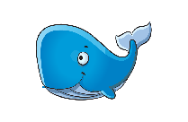 Blue Whale Vector Clipart Image