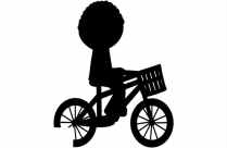Boy Riding A Bicycle With Basket Png Drawing