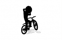 Boy With Bicycle Png Background