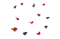 Butterflies Flying Png Silhouette