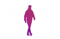 Transparent Elderly With Walking Stick Picture