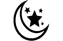 Colorful Tribal Crescent Moon Stars Png Transparent Image