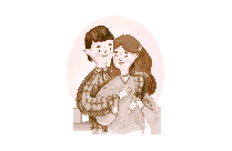Couple PNG Transparent Vector