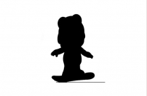 Transparent Cute Baby Animals Silhouette