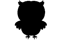 Cute Baby Owl Transparent Clipart Silhouette