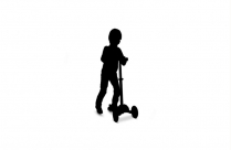 Cute Boy On Scooter Transparent Background