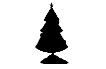 Cute Christmas Trees Transparent Background
