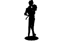 Transparent Wedding Couple Kissing Clipart, Wedding Couple Kissing Png Image