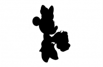 Minnie Mouse Basketball Clipart Png Black And White