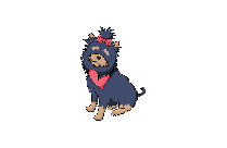 Excited Cartoon Dog PNG Clipart Image