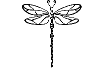 Dragonfly Png Silhouette, Black  Png Transparent Background