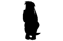 Courage The Cowardly Dog Png Silhouette
