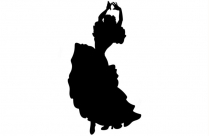 Lovers Dancing Silhouette Transparent Background