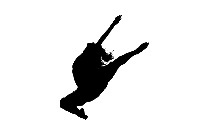 Black Gymnastics Girl Clipart Transparent Background