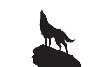 Howling Wolf Silhouette PNG Vector
