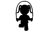 Little Girl With Jump Rope Transparent Png