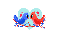 Love Birds Vector Png