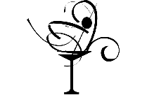 Martini Glass Png Black And White