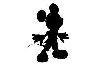 Mickey Mouse Designs Png Silhouette Transparent Background