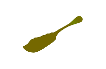 Ornate Aesthetic Master Butter Knife Png Silhouette