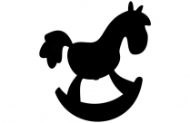 Rocking Horse Toy Png Silhouette Transparent Background