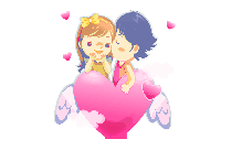 Wedding Couple Red Clipart PNG