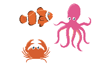 Sea Creatures Clipart Png