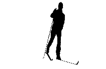 Skiing Png Black And White