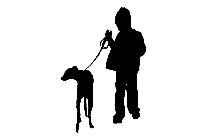 Woman Walking With Energetic Dog Png Cartoon